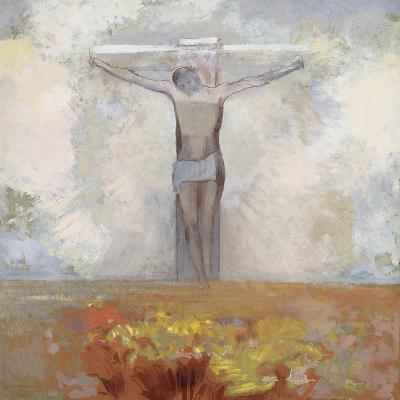 Christ en croix-Odilon Redon-Giclee Print