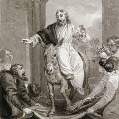 Christ Entering Jerusalem, Israel, C1810-C1844-Henry Corbould-Giclee Print
