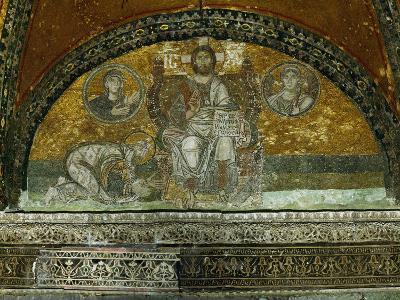 Christ Enthroned, Blessing--Giclee Print