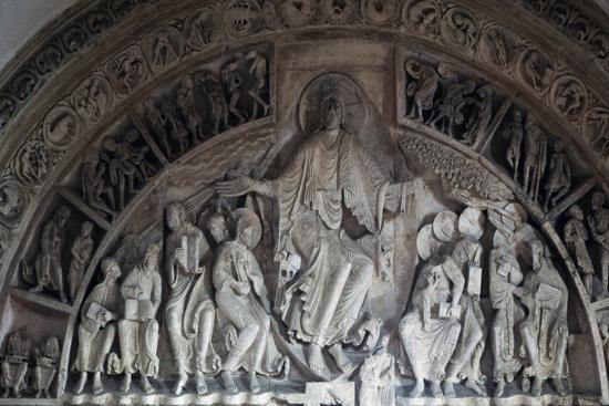Christ Enthroned, Central Tympanum of the Narthex--Giclee Print