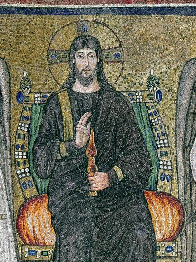 Christ Enthroned with the Angels-Byzantine School-Giclee Print