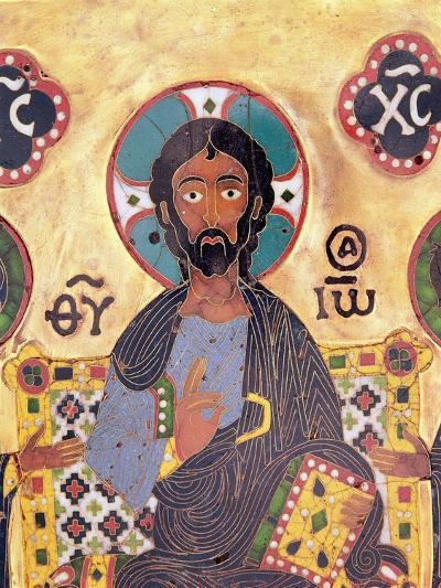 Christ Enthroned-Russian School-Giclee Print