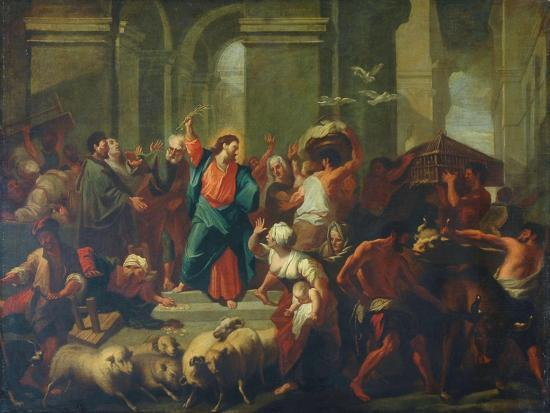 Christ Expelling The Sellers From The Temple-Jean-Baptiste Jouvenet-Giclee Print