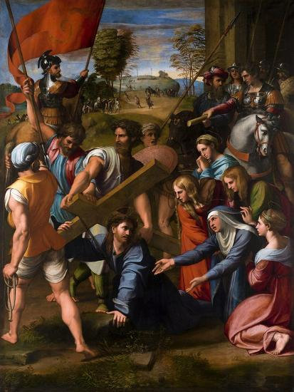 Christ Falls on the Way to Calvary, 1515-1516-Raphael-Giclee Print