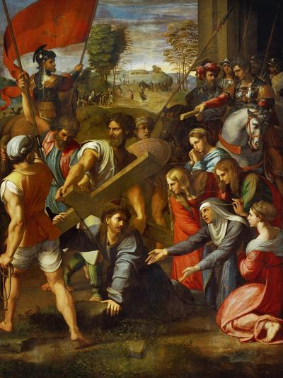 Christ Falls on the Way to Calvary-Raphael-Giclee Print