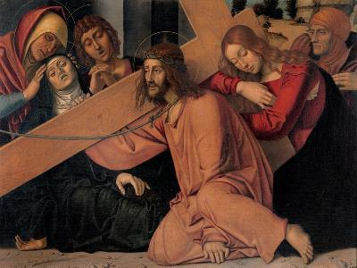 Christ Fell under the Cross-Francesco Bonsignori-Art Print
