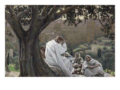 Christ Foretelling the Destruction of the Temple, Illustration for 'The Life of Christ', C.1886-94-James Tissot-Giclee Print