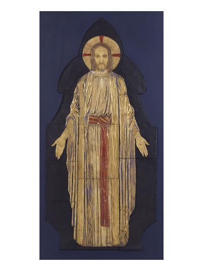 Christ - from a Group of Seven Plaster Bas-Reliefs, for the Park Church, Glasgow-Robert Anning Bell-Giclee Print