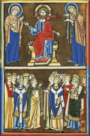 Christ from the Book of Revelation and the Elected, Miniature from Beatae Elisabeth Psalterium--Giclee Print
