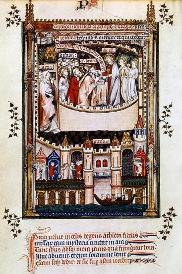 Christ Gives Communion to St Denis, 1317--Giclee Print