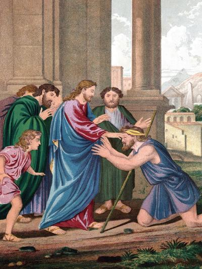 Christ Giving Sight to the Man Born Blind, Mid 19th Century--Giclee Print