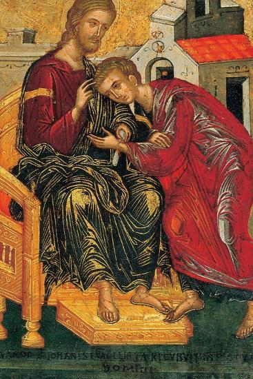 Christ Giving the Benediction to John the Evangelist, C. 1450-Andreas Ritzos-Giclee Print