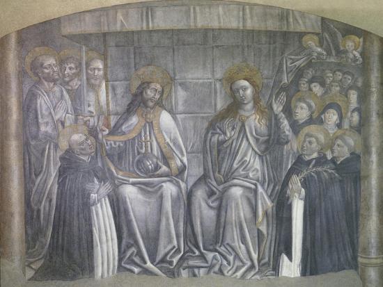 Christ Giving World to Saint Dominic in Presence of Virgin Mary-Carlo Brancaccio-Giclee Print