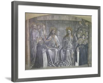 Christ Giving World to Saint Dominic in Presence of Virgin Mary-Carlo Brancaccio-Framed Giclee Print