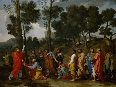 Christ Handing the Keys to Saint Peter-Nicolas Poussin-Giclee Print