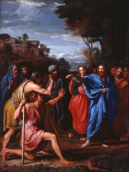 Christ Healing the Blind, 1682-Nicolas Colombel-Giclee Print