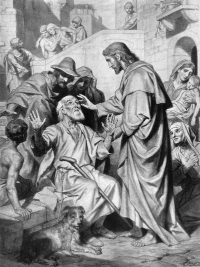 Christ Healing the Blind, 1926- Hofmann-Giclee Print