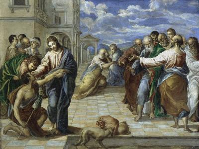 Christ Healing the Blind-El Greco-Giclee Print