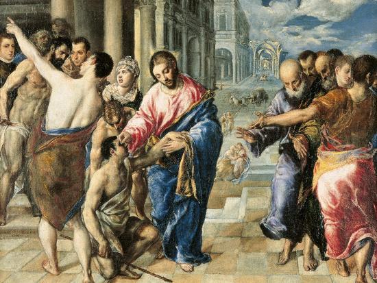 Image result for el greco christ healing the blind