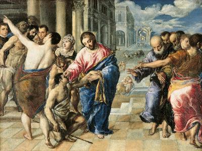 Christ Healing the Blind-El Greco-Art Print