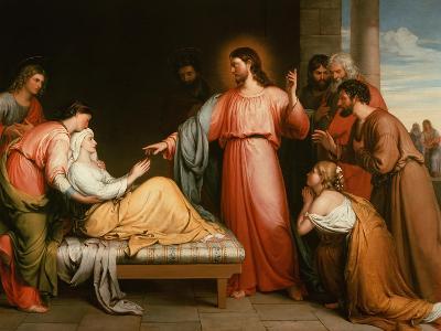Christ Healing the Mother of Simon Peter-John Bridges-Giclee Print