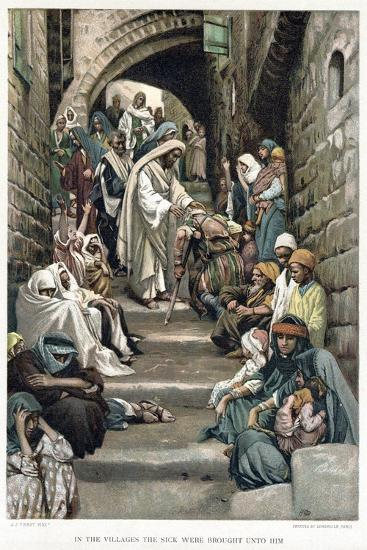 Christ Healing the Sick Brought to Him in the Villages, C1890-James Jacques Joseph Tissot-Giclee Print