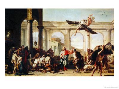 Christ Heals the Paralytic-Giovanni Battista Tiepolo-Giclee Print
