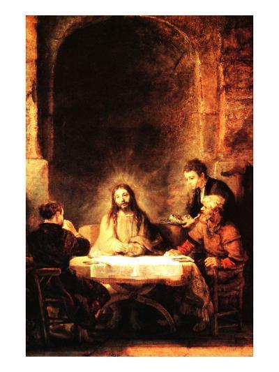 Christ in Emmaus-Rembrandt van Rijn-Art Print