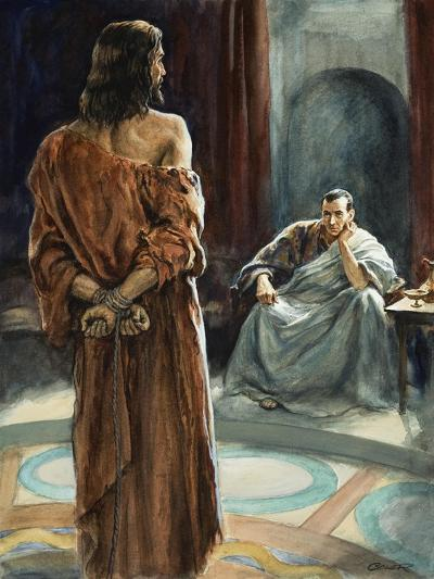 Christ in Front of Pontius Pilate-Henry Coller-Giclee Print