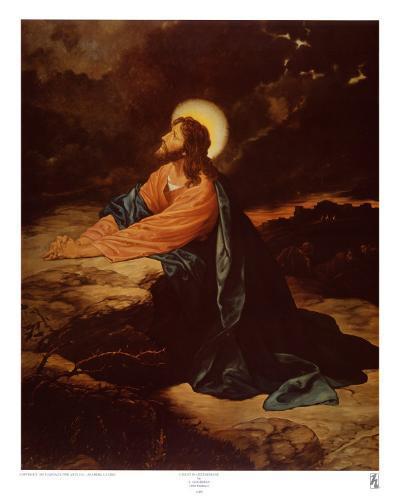 Christ in Gethsemane-E^ Goodman-Art Print
