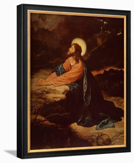 Christ in Gethsemane-E. Goodman-Framed Art Print