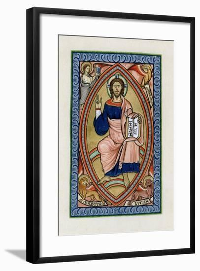 Christ in Glory with the Symbols of the Four Evangelists, C1200--Framed Giclee Print