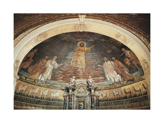 Christ in Heaven, Apse Mosaic, Basilica of Saints Cosmas and Damian, Rome, Italy, 6th Century--Giclee Print