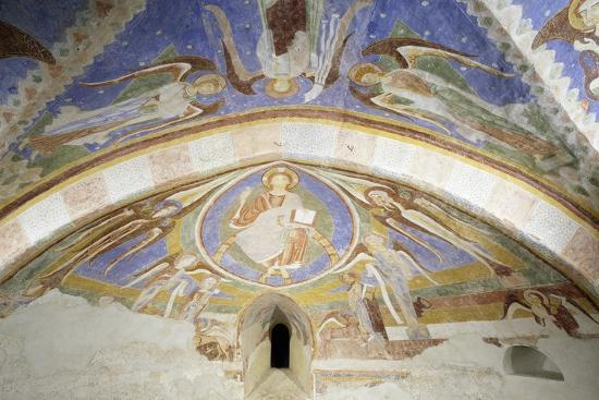 Christ in Majesty, Fresco, Crypt Apse of Monte Maria Abbey, Near Mals--Giclee Print