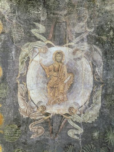Christ in Majesty Surrounded by Four Angels, Ceiling Painting, 11th-14th Century (Fresco)-Byzantine-Giclee Print