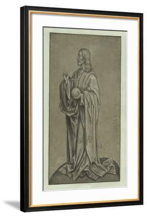 Christ in the Act of Blessing-Hans Holbein-Framed Lithograph