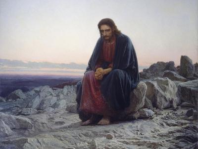Christ in the Desert, 1872-Iwan Kramskoi-Giclee Print