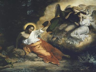 Christ in the Garden of Gethsemane, 1824-27-Eugene Delacroix-Giclee Print
