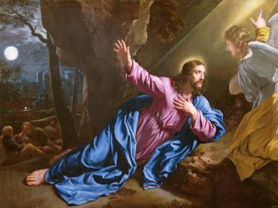 Christ in the Garden of Olives, 1646-50-Philippe De Champaigne-Giclee Print