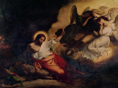 Christ in the Garden of Olives, 1827-Eugene Delacroix-Giclee Print