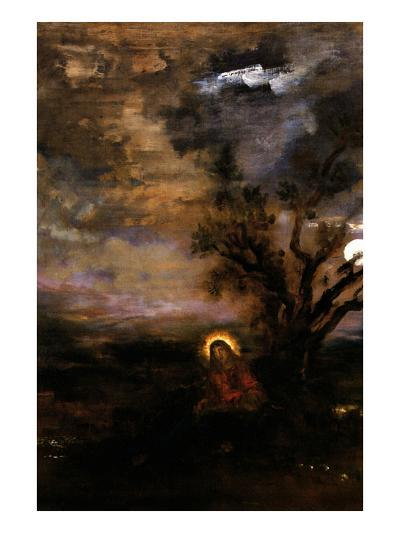 Christ in the Garden of Olives-Gustave Moreau-Art Print