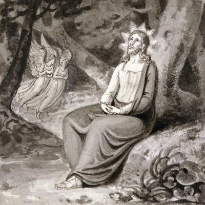 Christ in the Garden with Angels, 19th Century--Giclee Print