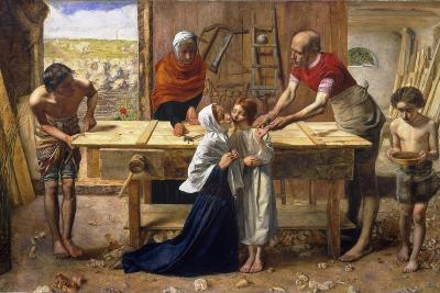 Christ in the House of His Parents (The Carpenter's Shop)-John Everett Millais-Giclee Print