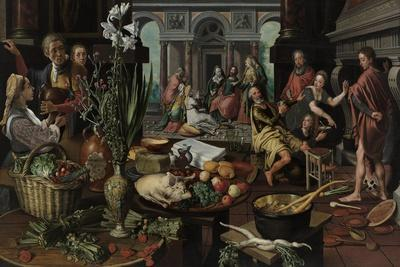 Christ in the House of Martha and Mary, 1553-Pieter Aertsen-Giclee Print