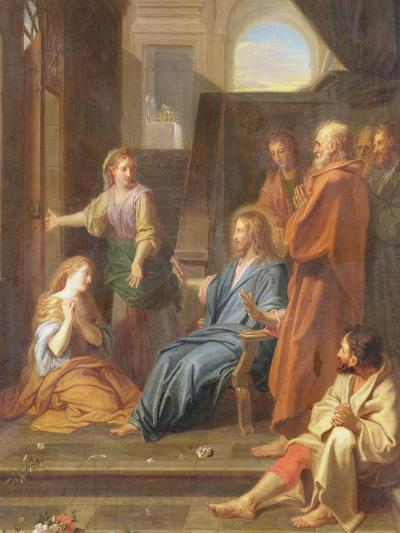 Christ in the House of Martha and Mary-Jean-Baptiste Jouvenet-Giclee Print