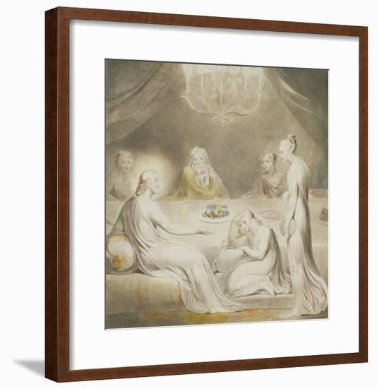 Christ in the House of Mary and Martha-William Blake-Framed Giclee Print