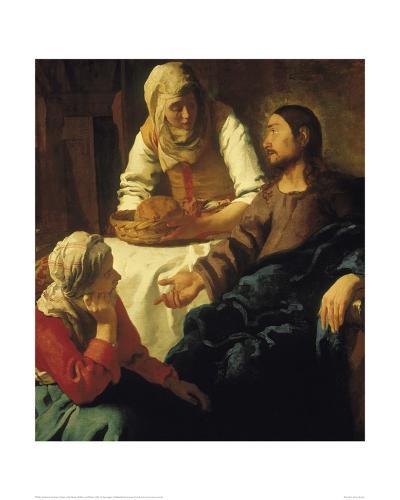 Christ in the House of Mary & Martha-Johannes Vermeer-Giclee Print