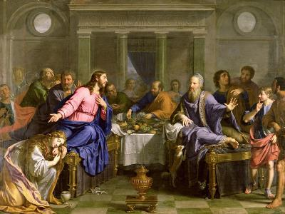 Christ in the House of Simon the Pharisee, C.1656-Philippe De Champaigne-Giclee Print