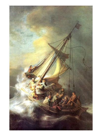 Christ in the Storm on the Lake of Galilea-Rembrandt van Rijn-Art Print