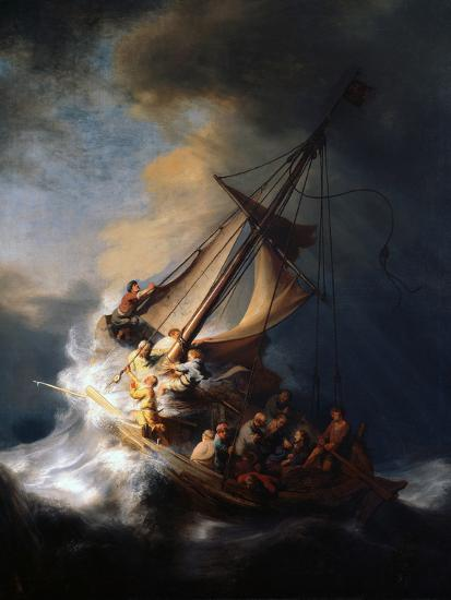 Christ in the Storm on the Lake of Galilee, 1633-Rembrandt van Rijn-Premium Giclee Print